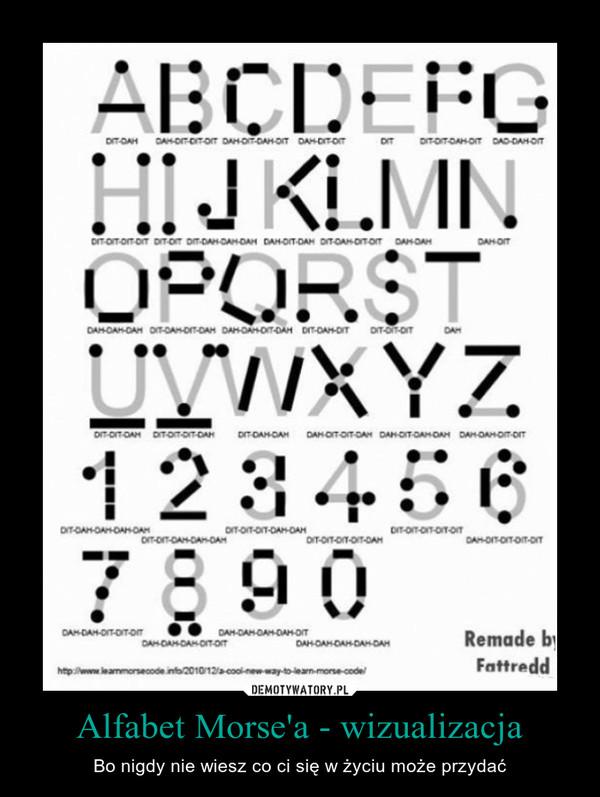 Alfabet Morse'a - wizualizacja – Bo nigdy nie wiesz co ci się w życiu może przydać