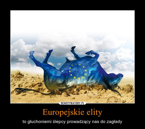 Europejskie elity – to głuchoniemi ślepcy prowadzący nas do zagłady