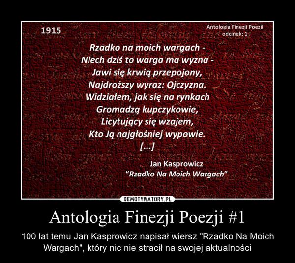 Antologia Finezji Poezji 1 Demotywatorypl