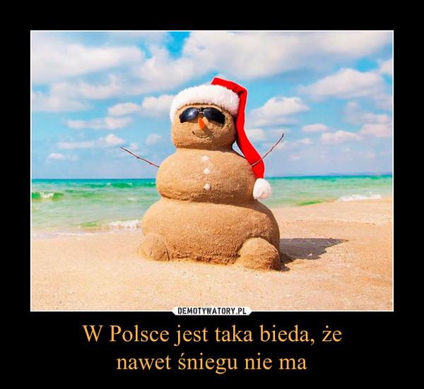 W Polsce jest taka bieda, żenawet śniegu nie ma –