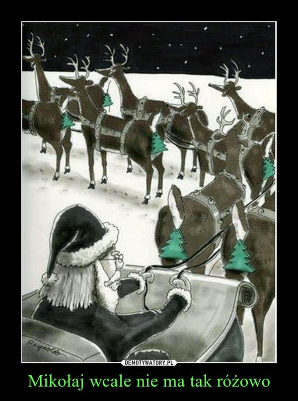 Mikołaj wcale nie ma tak różowo –