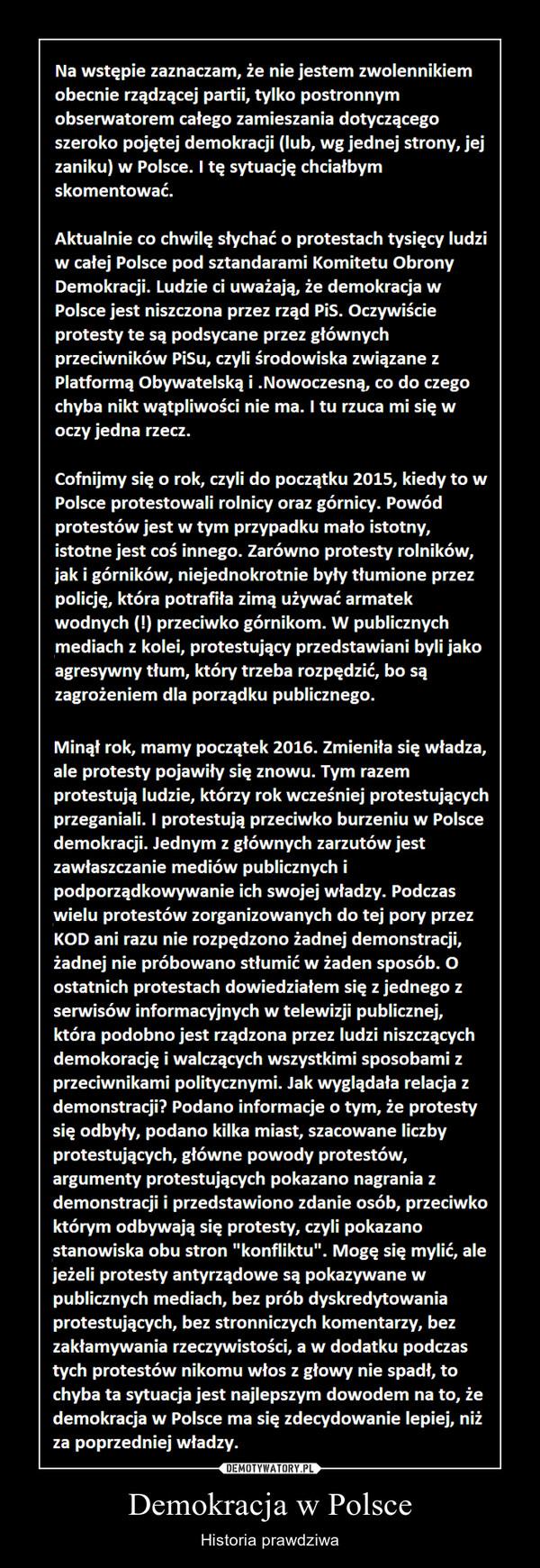 Demokracja w Polsce – Historia prawdziwa