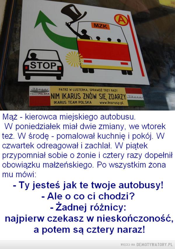 Autobusy zawsze jeżdżą stadami –