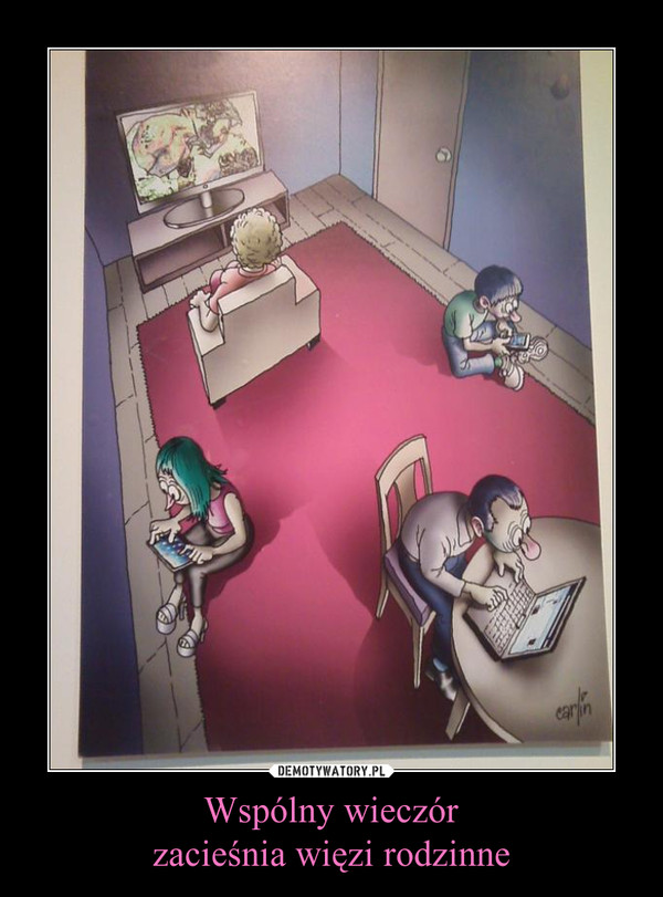 Wspólny wieczórzacieśnia więzi rodzinne –