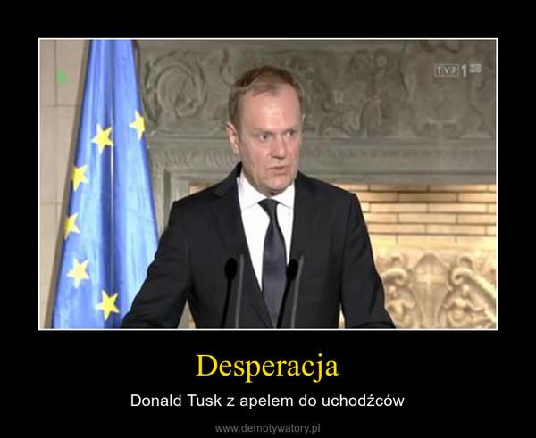 Desperacja – Donald Tusk z apelem do uchodźców