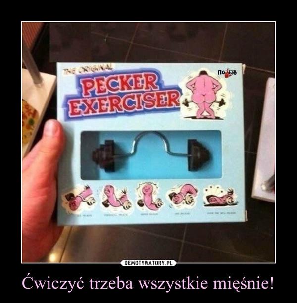 Ćwiczyć trzeba wszystkie mięśnie! –