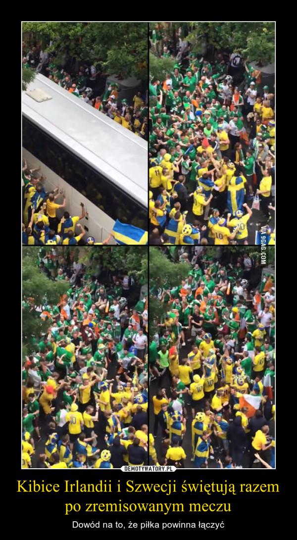 Kibice Irlandii i Szwecji świętują razem po zremisowanym meczu – Dowód na to, że piłka powinna łączyć
