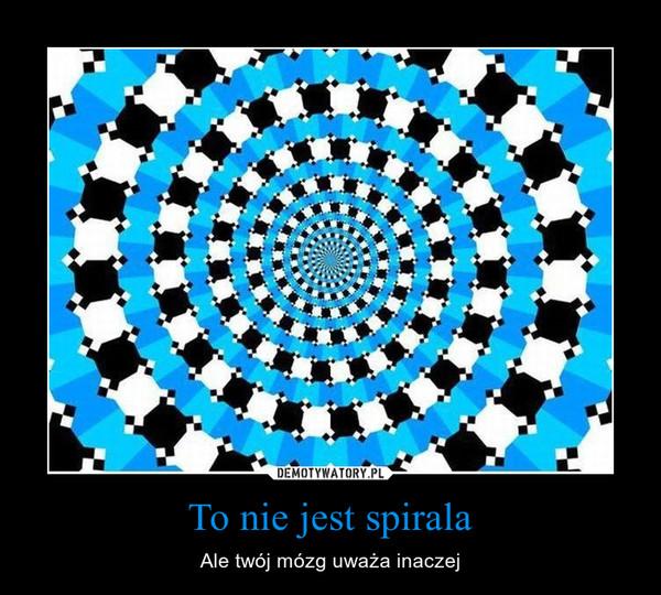 To nie jest spirala – Ale twój mózg uważa inaczej
