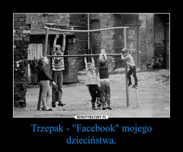 """Trzepak - """"Facebook"""" mojego dzieciństwa. –"""