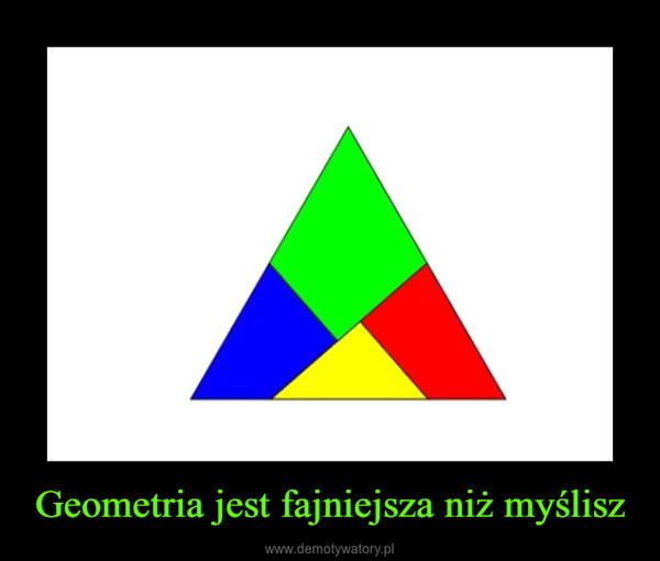 Geometria jest fajniejsza niż myślisz  –