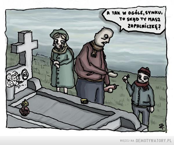 Tymczasem na cmentarzach –