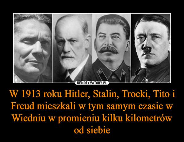 W 1913 roku Hitler, Stalin, Trocki, Tito i Freud mieszkali w tym samym czasie w Wiedniu w promieniu kilku kilometrów od siebie –