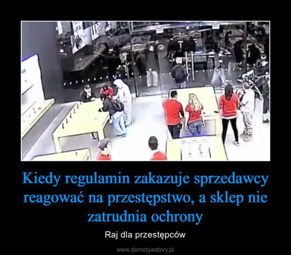 Kiedy regulamin zakazuje sprzedawcy reagować na przestępstwo, a sklep nie zatrudnia ochrony – Raj dla przestępców