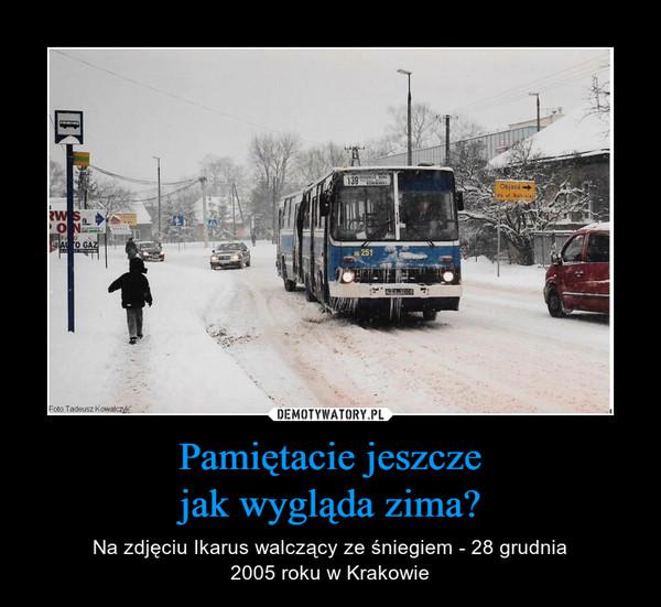 Pamiętacie jeszczejak wygląda zima? – Na zdjęciu Ikarus walczący ze śniegiem - 28 grudnia2005 roku w Krakowie
