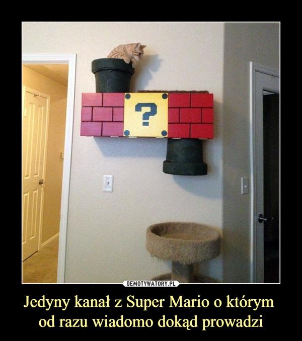 Jedyny kanał z Super Mario o którym od razu wiadomo dokąd prowadzi –