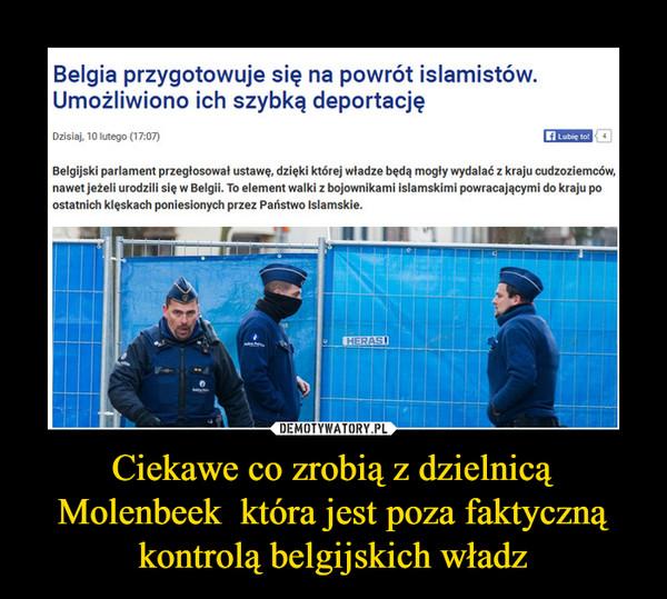 Ciekawe co zrobią z dzielnicą Molenbeek  która jest poza faktyczną kontrolą belgijskich władz –