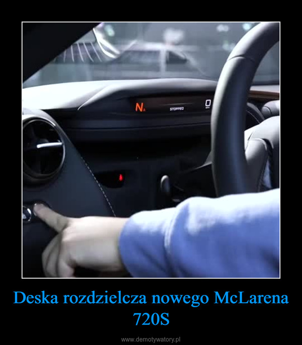 Deska rozdzielcza nowego McLarena 720S –