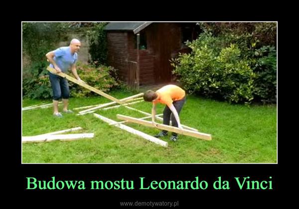 Budowa mostu Leonardo da Vinci –