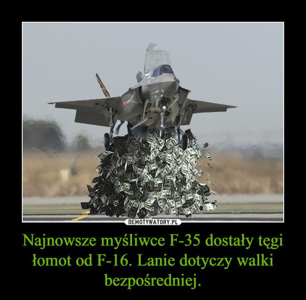 Najnowsze myśliwce F-35 dostały tęgi łomot od F-16. Lanie dotyczy walki bezpośredniej. –