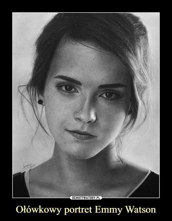 Ołówkowy portret Emmy Watson –