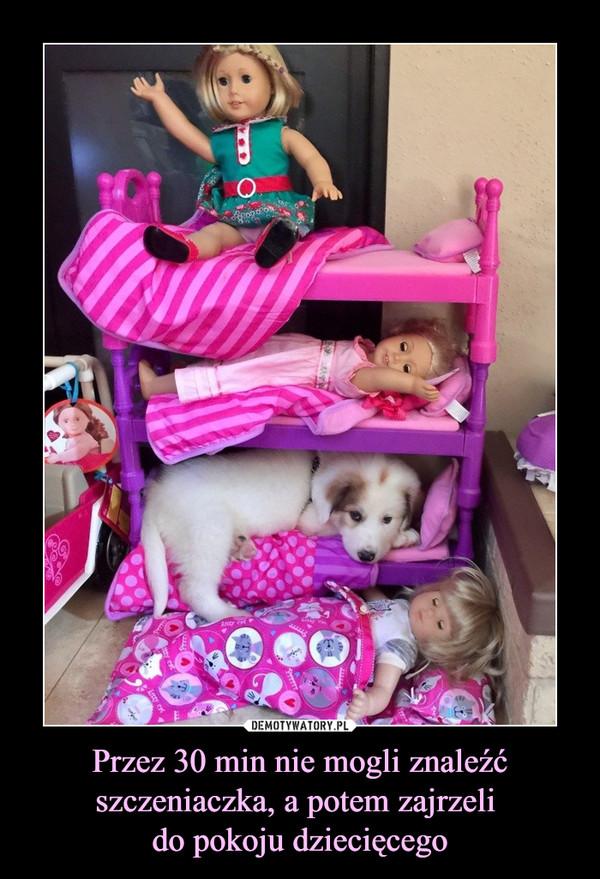 Przez 30 min nie mogli znaleźć szczeniaczka, a potem zajrzeli do pokoju dziecięcego –