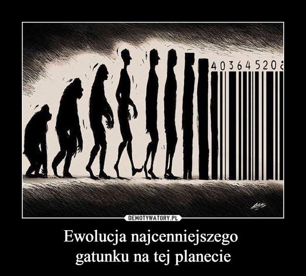 Ewolucja najcenniejszego gatunku na tej planecie –