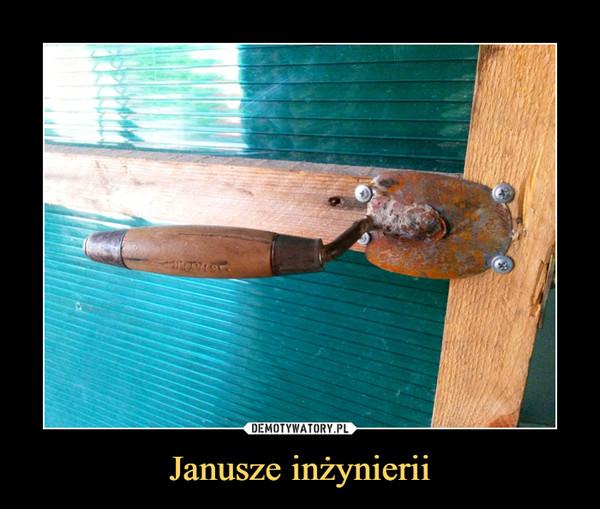 Janusze inżynierii –