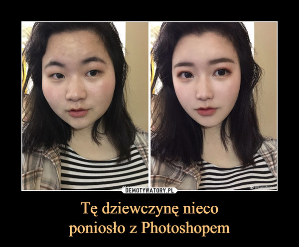 Tę dziewczynę niecoponiosło z Photoshopem –
