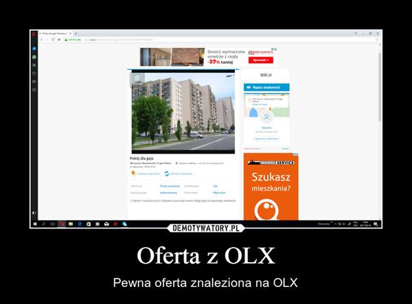 Oferta z OLX – Pewna oferta znaleziona na OLX