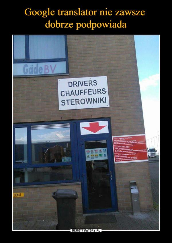 –  drivers chauffeurs sterowniki