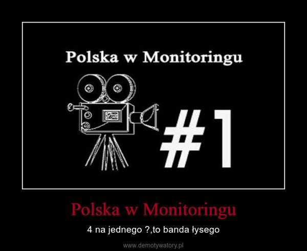 Polska w Monitoringu – 4 na jednego ?,to banda łysego