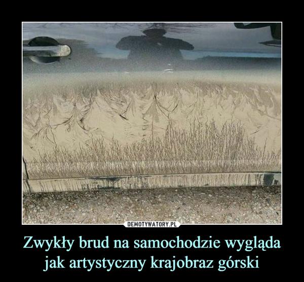 Zwykły brud na samochodzie wygląda jak artystyczny krajobraz górski –