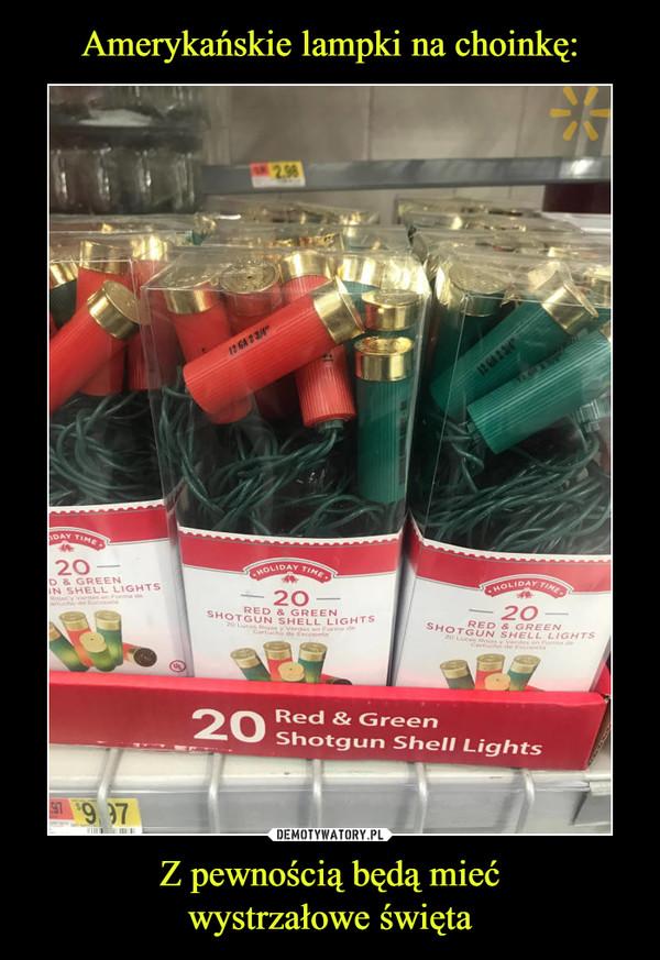 Z pewnością będą miećwystrzałowe święta –  20 red & green shotgun shell lights