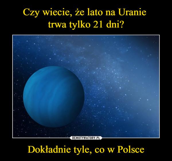 Dokładnie tyle, co w Polsce –