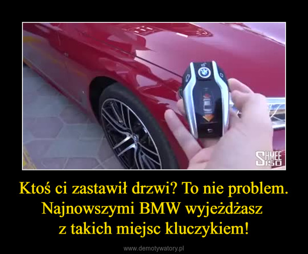 Ktoś ci zastawił drzwi? To nie problem. Najnowszymi BMW wyjeżdżasz z takich miejsc kluczykiem! –