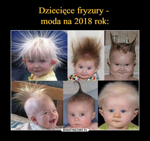 Dziecięce Fryzury Moda Na 2018 Rok Demotywatorypl