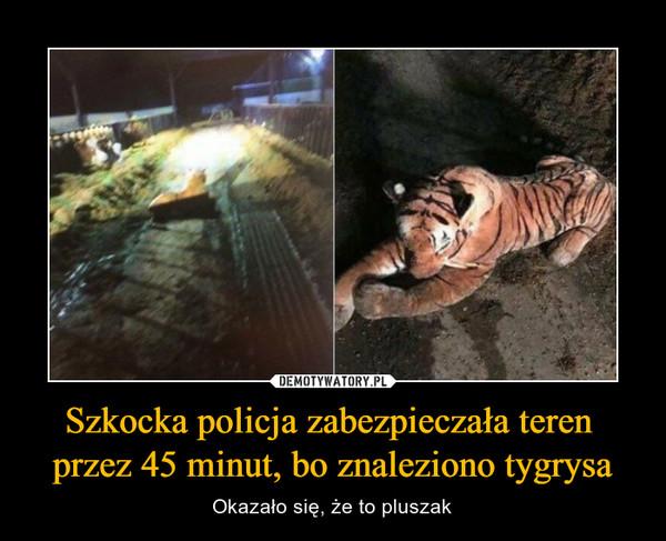 Szkocka policja zabezpieczała teren przez 45 minut, bo znaleziono tygrysa – Okazało się, że to pluszak