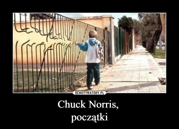 Chuck Norris, początki –