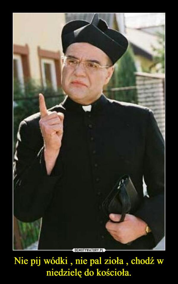 Nie pij wódki , nie pal zioła , chodź w niedzielę do kościoła. –