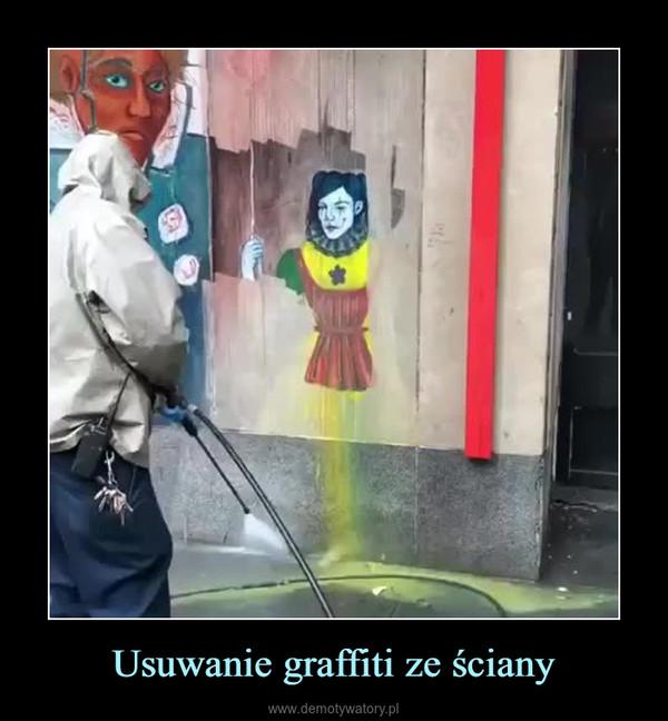 Usuwanie graffiti ze ściany –
