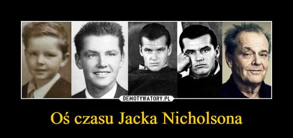 Oś czasu Jacka Nicholsona –