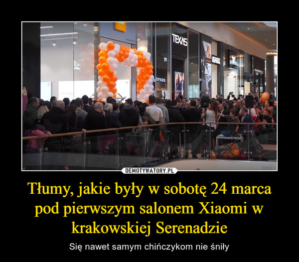 Tłumy, jakie były w sobotę 24 marca pod pierwszym salonem Xiaomi w krakowskiej Serenadzie – Się nawet samym chińczykom nie śniły