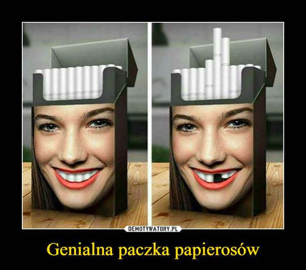 Genialna paczka papierosów –