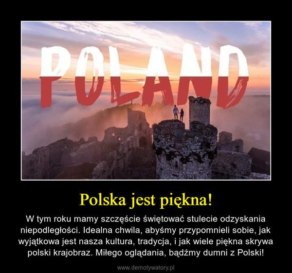 Polska jest piękna! – W tym roku mamy szczęście świętować stulecie odzyskania niepodległości. Idealna chwila, abyśmy przypomnieli sobie, jak wyjątkowa jest nasza kultura, tradycja, i jak wiele piękna skrywa polski krajobraz. Miłego oglądania, bądźmy dumni z Polski!