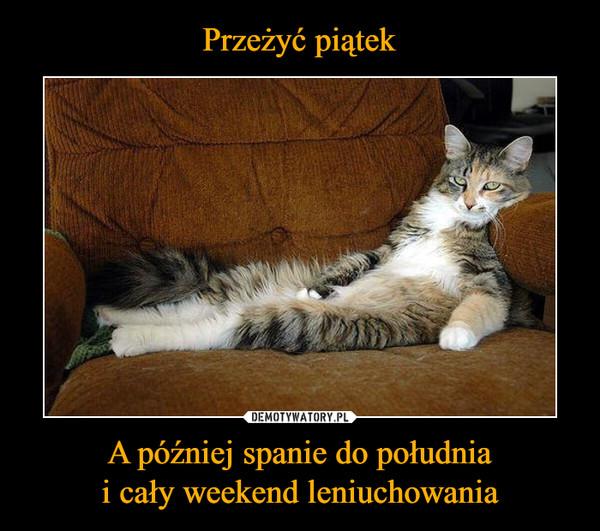 A później spanie do południai cały weekend leniuchowania –