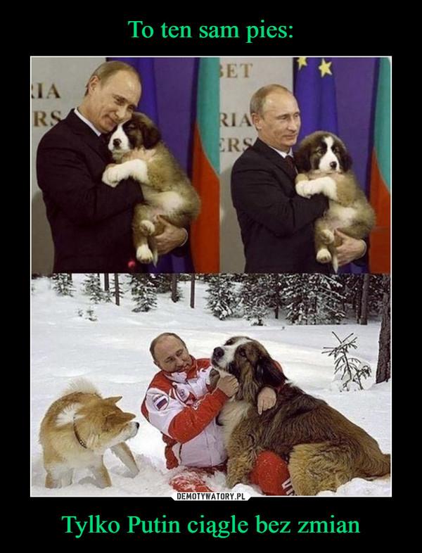 Tylko Putin ciągle bez zmian –