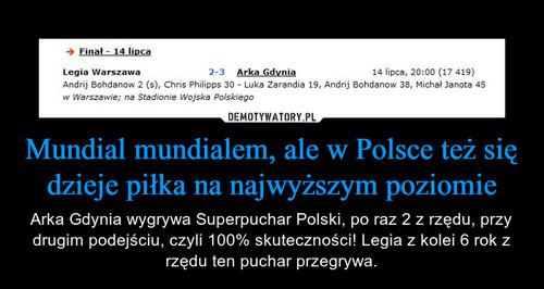 Mundial mundialem, ale w Polsce też się dzieje piłka na najwyższym poziomie