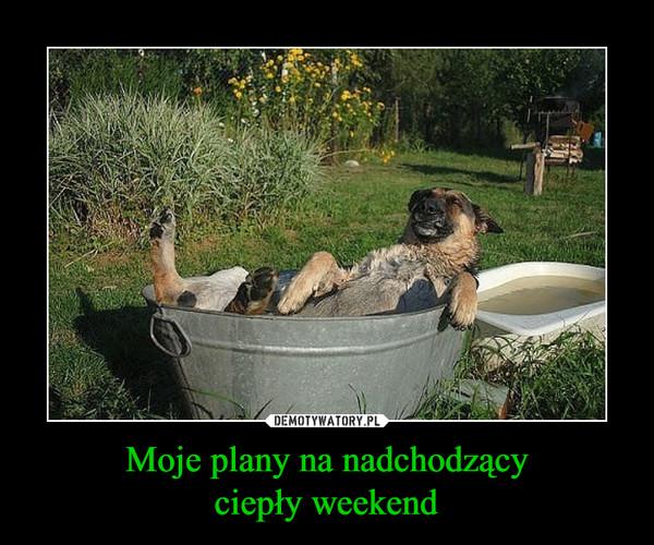 Moje plany na nadchodzącyciepły weekend –