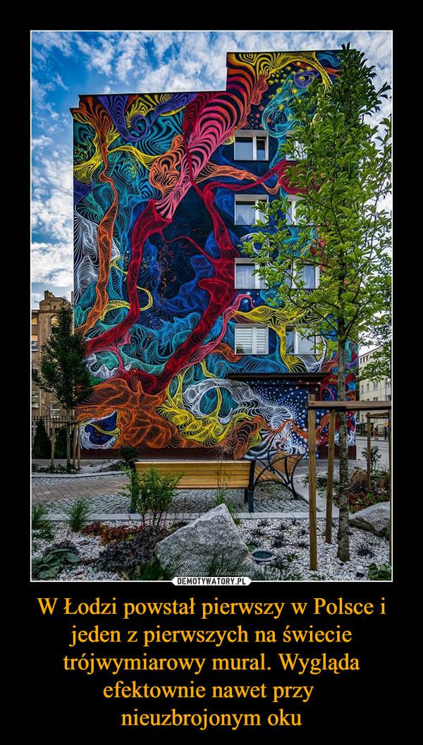 W Łodzi powstał pierwszy w Polsce i jeden z pierwszych na świecie trójwymiarowy mural. Wygląda efektownie nawet przy nieuzbrojonym oku –