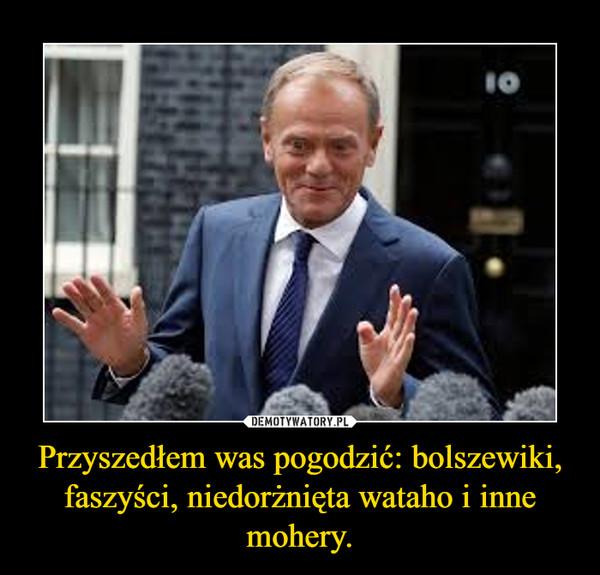 Przyszedłem was pogodzić: bolszewiki, faszyści, niedorżnięta wataho i inne mohery. –